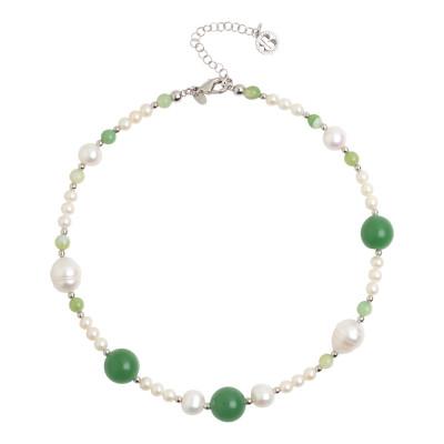 Collana con perle naturali ed avventurina
