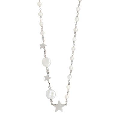 Collana con perle naturali e stelle