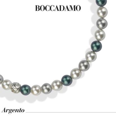 Collana con perle tahitiani look, light grey e white