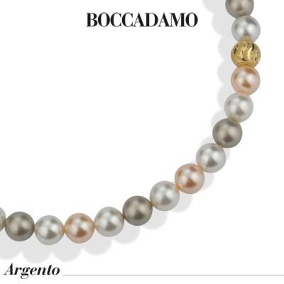 Collana con perle platinum, peach e white