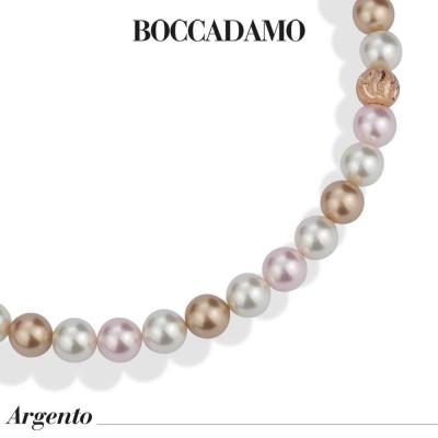 Collana con perle rose gold, rosaline e white