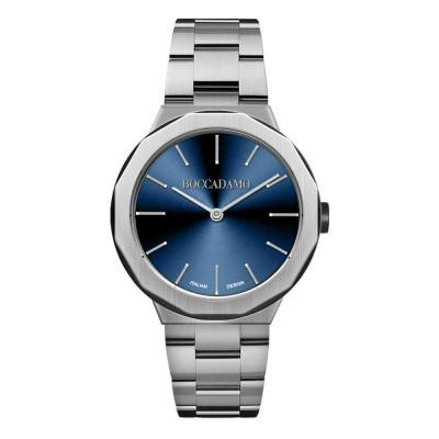 Orologio due lancette con quadrante blu