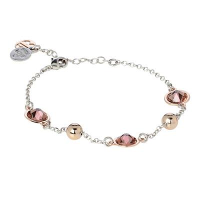 Bracciale bicolor con cristalli Swarovski blush rose