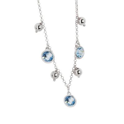 Collana con cristalli Swarovski acquamarina