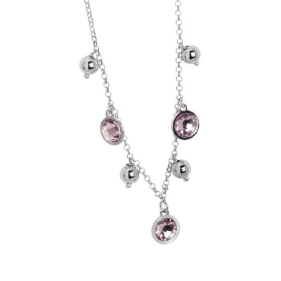 Collana con cristalli Swarovski light ametist