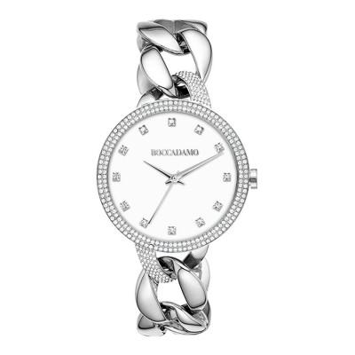 Orologio da polso donna con bracciale groumette e quadrante bianco