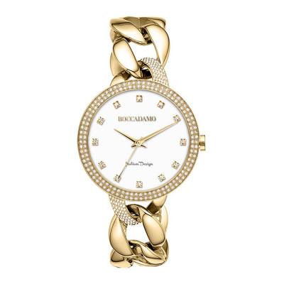Orologio da polso donna con bracciale grumetta e ghiera doppio filo Swarovski