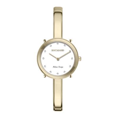 Orologio solo tempo donna gold con indici in Swarovski