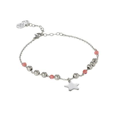 Cavigliera con Swarovski padparadscha  e charm a forma di stella