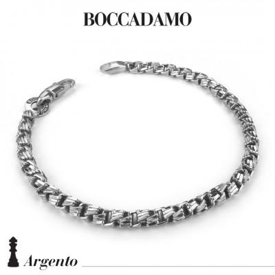 Bracciale maglia veneziana diamantata grande