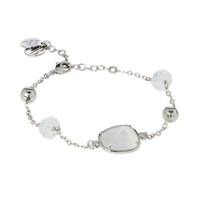 Bracciale con cristalli Swarovski white opal e centrale bianco