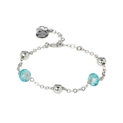 Bracciale con cristalli Swarovski light turquoise