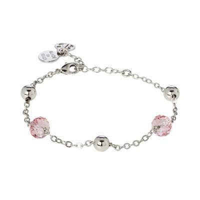 Bracciale con cristalli Swarovski light rose