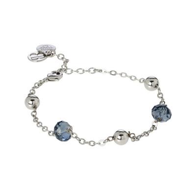 Bracciale con cristalli Swarovski blue denim