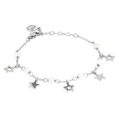 Bracciale con stelle e perle naturali