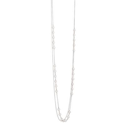 Collana doppio filo con decoro di perle