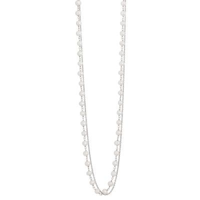 Collana doppio filo con filo di perle