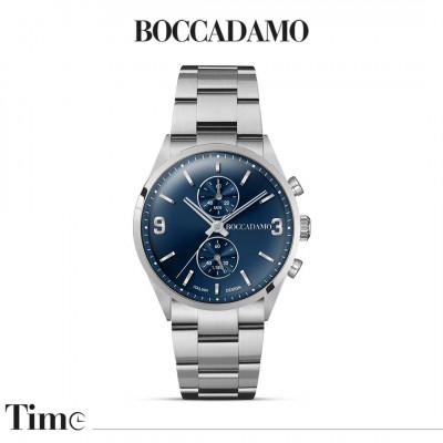 Orologio cronografo con quadrante blu