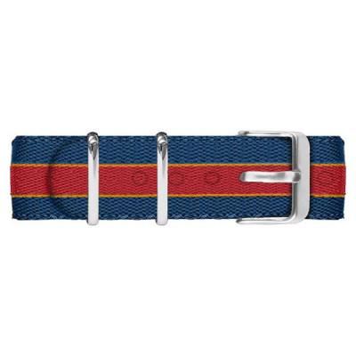 Cinturino in nylon blu navy, rosso e arancione