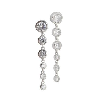 Orecchini con zirconi degradè pendenti