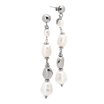 Orecchini con perle naturali barocche