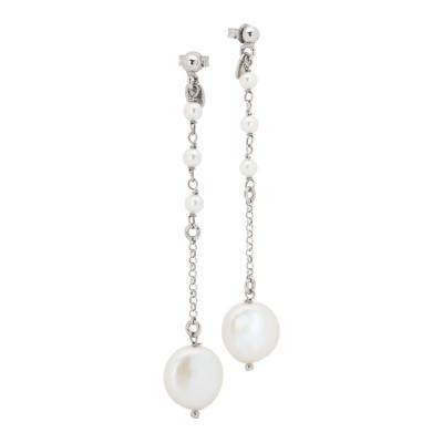 Orecchini pendenti con perle naturali