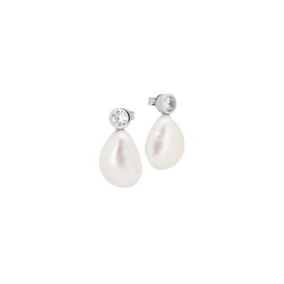 Orecchini con zircone e perla barocca