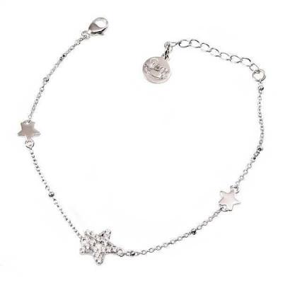 Bracciale in argento con stelle