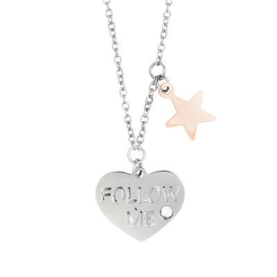 "Collana con pendenti bicolor ""follow me"" e Swarovski"