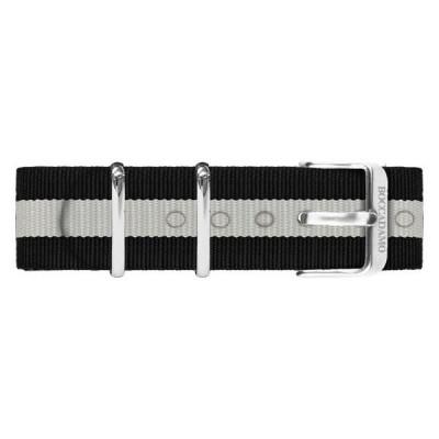 Cinturino in nylon nero e bianco