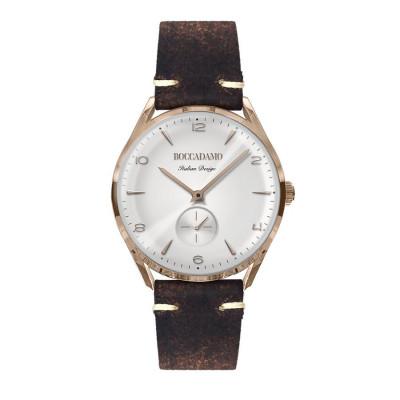 Orologio vintage con contasecondi e cinturino in pelle effetto invecchiato