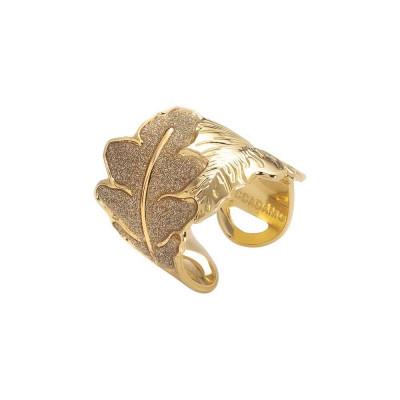 Anello placcato oro giallo con decoro a fascia