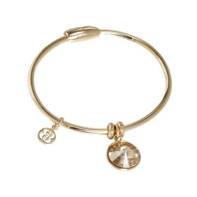 Bracciale con charm in cristallo Swarovski golden