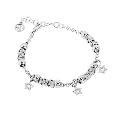 Bracciale beads con stelle lisce