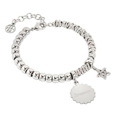 """Bracciale beads con medaglietta """"Successo"""" e stella zirconata"""