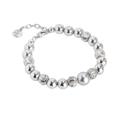 Bracciale con perla Swarovski light grey