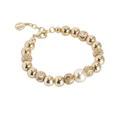 Bracciale con perla Swarovski light gold