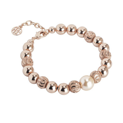 Bracciale con perla Swarovski peach