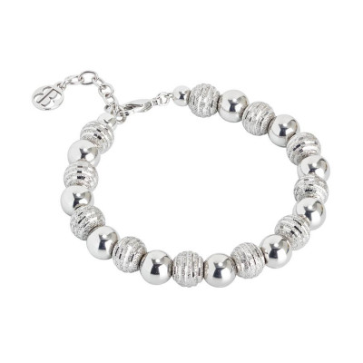 Bracciale con perle lisce e diamantate