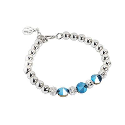 Bracciale con cristalli Swarovski metallic blu