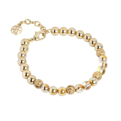 Bracciale con perle Swarovski metallic sunshine