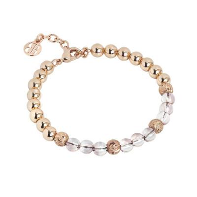 Bracciale con perle Swarovski antique pink