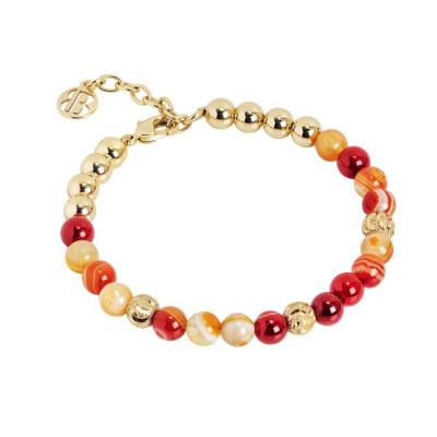 Bracciale con perle di agata orange
