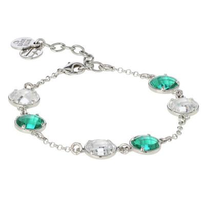 Bracciale con cristalli crystal e verde acqua