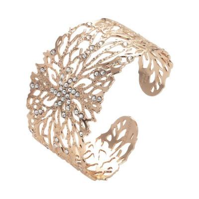 Bracciale a fascia con decoro corallo e Swarovski crystal
