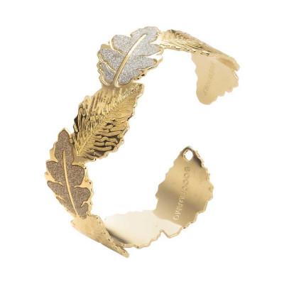 Bracciale a fascia con glitter bianco e dorato