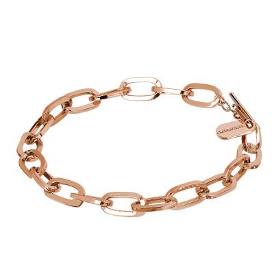 Bracciale catena placcato oro rosa a maglie rettangolari