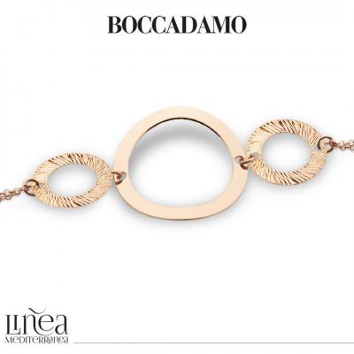 Bracciale placcato oro rosa con elementi circolari