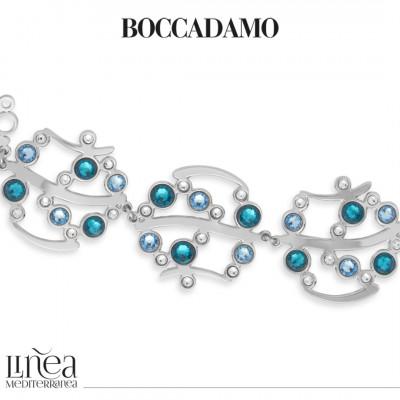 Bracciale con Swarovski crystal, aquamarine e blue zircon