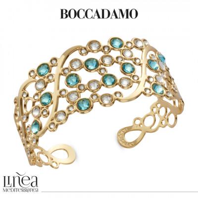 Bracciale a fascia con Swarovski crystal e light turquoise